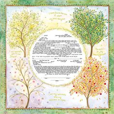 Seasons of Joy Ketubah by Mickie Caspi