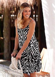Beachtime Black & White Beach Dress