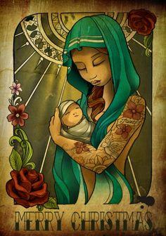 kerstkaart 2011 Tattoo dagmar