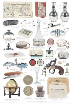 Items Which May Have Been Found On A Georgian Gentleman's Desk These items are nearly all in the collection of Number 1 Royal Crescent Museum in Bath. A pierced silver coaster circa 1767 holds an English glass decanter circa 1780. A 'Wax Jack' for melting sealing wax circa 1790 would have sealed the gentleman's letters. His 'Flint Lock Tinder Box ' would have created the flame to light the candles. http://www.fredericacards.co.uk