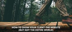 Show your client the website, but not the entire world