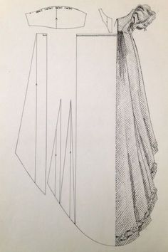1820er Abendkleid
