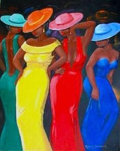 Dressed For The Ball by Romeo Downer - Black Women Painting – Dressed For The Ball by Romeo Downer Informationen zu Dressed For The Ball - African Art Paintings, Black Art Pictures, Caribbean Art, Afro Art, Black Women Art, African American Women, Woman Painting, Black Is Beautiful, Beautiful Pictures