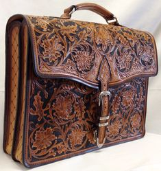 The Advocate hand-tooled leather briefcase - Rewards