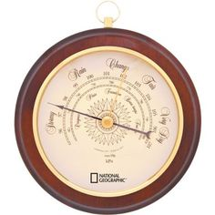 National Geographic Round Walnut Barometer at Cabela's