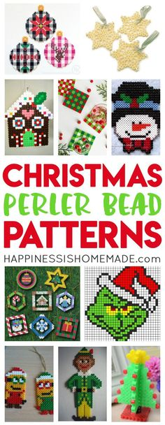 Perler beads are a TON of fun for all ages, and these Christmas Perler Bead Patterns are sure to be a huge hit with your entire family!  A fun and easy Christmas craft that's perfect for family night, classrooms, parties, and more! via @hiHomemadeBlog