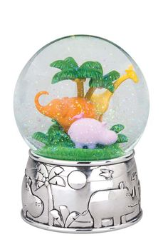 Jungle Parade Water Globe from Reed & Barton in Yardley, PA from Pink Daisy