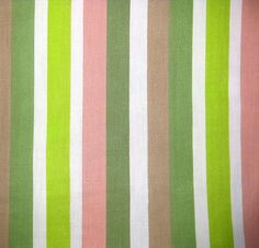 1950s Vintage Cotton Fabric  Stripes in Green Pink by SelvedgeShop, $12.00