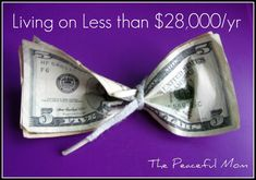 Great site with lots of tips for living frugally... no matter how much $ you make. Pin now read later.
