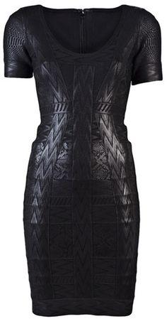 Hervé Léger Bandage Dress  #dress #black #cool #dark
