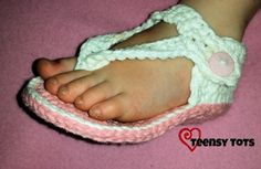 Toddler Flip Flop Shoes Toddler size 5/6 Materials: F hook Cotton yarn: Sugar N' Cream- MC (Pink) CC (White) Tapestry needle Stitch marker Scissors Abbreviations: MCMain color CC...