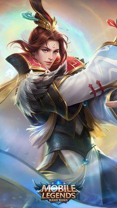 ML ; Estes - White Crane Holy Priest, Dragon Moon, Moon Elf, Crane Mobile, Elf King, White Crane, Mobile Legend Wallpaper, Mobile Legends, New Skin