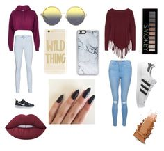 """""""Colors"""" by jaynicolefashion ❤ liked on Polyvore featuring River Island, 7 For All Mankind, NIKE, Matthew Williamson, Sonix, Zero Gravity, Boris, New Look, Forever 21 and adidas"""