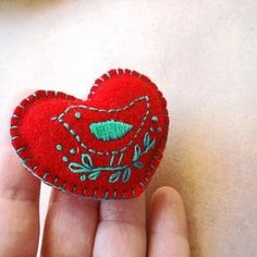 red puffy heart