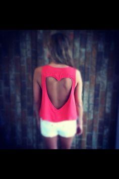 Heart shirt, so cute for the beach this summer!!!
