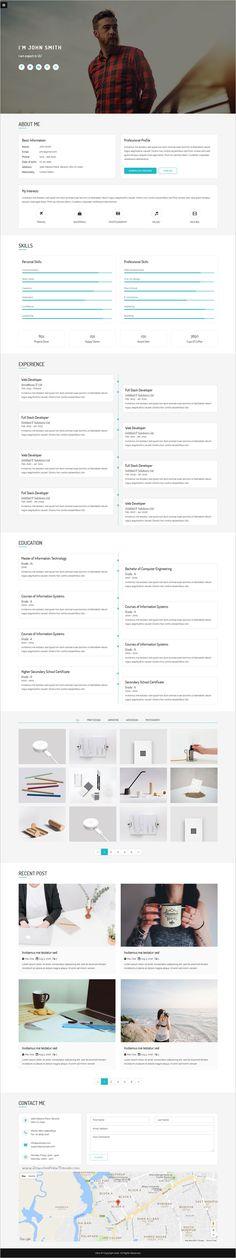 Verka - CV\/Resume HTML Template - resume html template