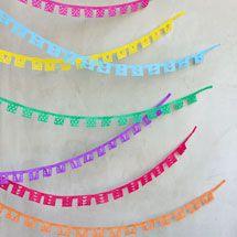 Papel Picado Made from Streamers for Cinco de Mayo