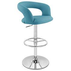 Monza Adjustable Height Swivel Armless Bar Stool | Zuri Furniture