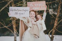 Snowy Winter Wedding Inspiration Shoot