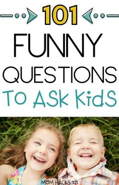 101 fun questions to ask kids to know them better! Great conversation starters to bond with your kids over dinner or a long car ride. Fun Questions For Kids, Funny Questions, Toddler Activities, Activities For Kids, Toddler Chores, Indoor Activities, Toddler Boys, Mama Hacks, Communication Orale