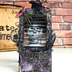 Halloween Items, Halloween Projects, Wicked Witch, Tag Art, Art Supplies, Witches, Stamp, Homemade, Crafty