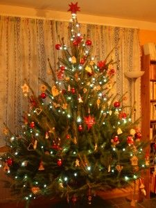 Karácsonyfa 2014, közös családi alkotás.
