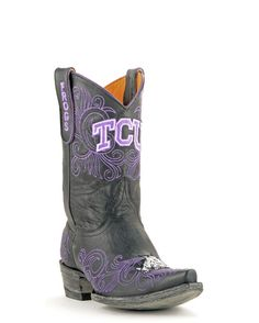 "Gameday Boots Women's 10"" TCU Boots - Black"