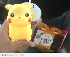I would never be able to resist this Happy Meal toy. Seriously. I wouldn't be the least bit ashamed to request a kid's meal for Pikachu!