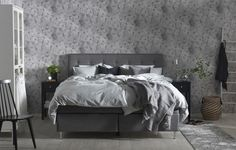 Cumulus Nyäng säng, sovrum i grå harmoni. Em home