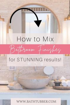 You can mix finishes in the bathroom if you know the rules! Get designer tips to will help you achieve stunning results. Learn how to easily create an upscale, custom look. Bathroom finishes. Bathroom finishes ideas. Bathroom finishes mixing. Mixing metal finishes in bathroom. Mixing finishes in bathroom.#bathroomfinishes #bathroomfinishesideas #bathroomfinishesmixing #mixingmetalfinishesinbathroom #mixingfinishesinbathroom Very Small Bathroom, Spa Like Bathroom, Bathroom Ideas, Elegant Bathroom Decor, Bathroom Accessories Luxury, Diy Bathroom Remodel, Relaxing Bath, Bath Ideas, Metal Finishes