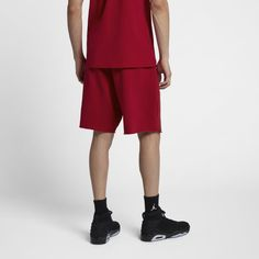 b36b3f18b06fdd Jordan Jumpman Air Men s Fleece Shorts - Red Mens Fleece Shorts