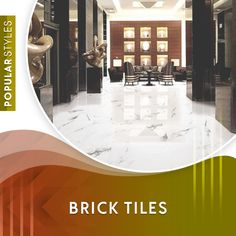 Brick tiles are thin slices of brick that have been cut from a standard-sized clay brick. Roughly thick, they maintain the appearance of traditional brick, and once installed on the wall, are indistinguishable from their full-sized kin. Brick Look Tile, Faux Brick Walls, White Brick Walls, Brick Tiles, Marble Tiles, Stone Tiles, Wall Tiles, Limestone Tile, Stained Concrete