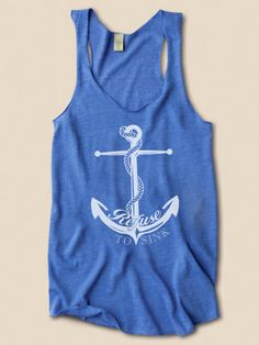 work out tank .Refuse To Sink Nautical Anchor Eco Friendly Racerback Tank Top. $28.00, via Etsy.