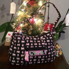 "Vera Bradley purse Nice elephants purse,13"" X 8"" Vera Bradley Bags Shoulder Bags"