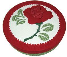 A rosa vermelha no Patchwork embutido