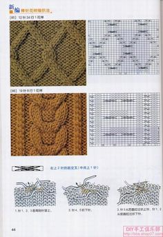 knitting cable patterns - good thing I can read a chart, cause I sure can't read the rest of it! Cable Knitting Patterns, Knitting Stiches, Knitting Charts, Hand Knitting, Knit Stitches, Lace Patterns, Stitch Patterns, Crochet Patterns, Crochet Yarn