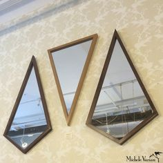 Diamond and Triangle Wood Mirrors available at michelevarian.com