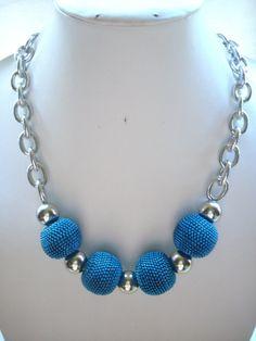 Cadena+de+plata+cuentas+cuentas+azules+Teal+por+DesignsbyPattiLynn,+$50.00