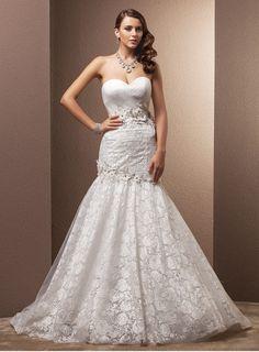 #Vestido con corte de sirena para tu #boda. ¿Te gusta? Encuéntralo en nuestro sitio.