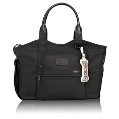 TUMI Alpha pet carrier - Black ballistic twill and leather pet carrier from TUMI, large enough to fit a pet up to 13 lbs. and suitable for plane cabin, car and around-town use