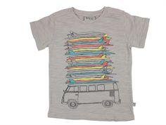 Wheat Surf Car t-shirt light grey