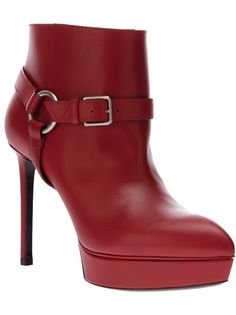 SAINT LAURENT Strapped Ankle Boot