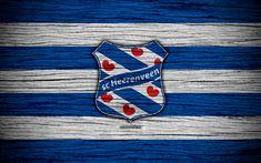 Download wallpapers Heerenveen FC, 4k, Eredivisie, soccer, Holland, football club, Heerenveen, wooden texture, FC Heerenveen