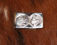 Buffalo Nickel Money Clip - Pistols and Pearls - Men's Gifts. good for dad