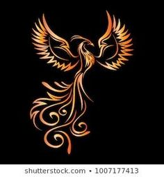 Stock vector (royalty free) about Red Phoenix Rising Wings Line . - Stock vector (royalty free) via red phoenix rising wings line drawing 1187048152 red phoenix rising - Phoenix Tattoo Feminine, Small Phoenix Tattoos, Phoenix Tattoo Design, Small Tattoos, Tribal Phoenix Tattoo, Simple Phoenix Tattoo, Phoenix Rising, Image Phoenix, Phoenix Images