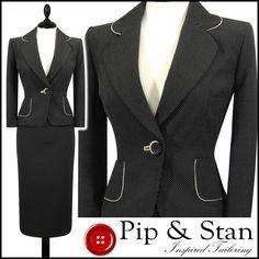PRINCIPLES UK14 US10 CHARCOAL BLACK PENCIL SKIRT SUIT 50S WOMEN LADIES SIZE #Principles #SkirtSuit #Business