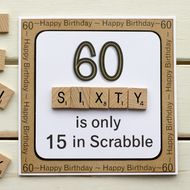 60 ist nur 15 in Scrabble. Handgemachte Geburtstagskarte, 60 ha solo 15 anni in Scrabble. Biglietto per il 60 ° compleanno fatto a mano, … 60th Birthday Presents, Happy 60th Birthday, Birthday Cards For Men, Special Birthday, Handmade Birthday Cards, Birthday Greetings, Birthday Wishes, 60th Birthday Ideas For Dad, 60 Birthday Quotes