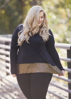 Plus Size Clothing for Women - Loey Lane Golden Confetti Top (Sizes 16 - 22) - Society+ - Society Plus - Buy Online Now! - 1