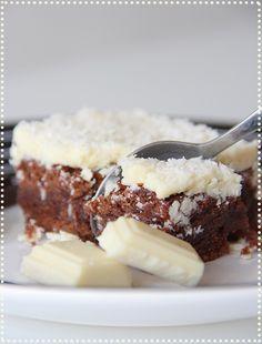 brownie chocolat blanc noix de coco