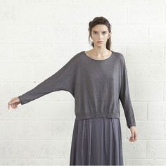 Natful   Kimono Sweater Gray